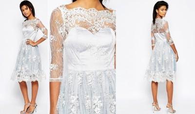 81d8391ef0 Sukienka ASOS MIDI KORONKOWA CHI CHI WESELE XS 34 - 6926802943 ...