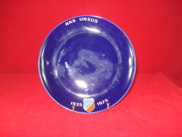 Talerz z logo RKS Ursus - Pruszków