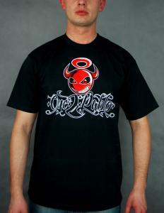T-Shirt ONE 2 PABLO Devil black Czarny L RSBRONX