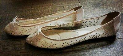 bafe3e0dd2609 STRADIVARIUS cieliste baletki balerinki 39 - 6423074567 - oficjalne ...