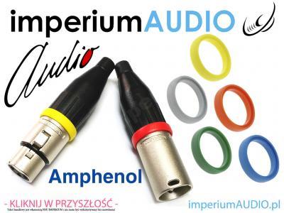 AMPHENOL AC-RING RING na XLR AC3F AC3M 4-kolory