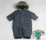 Mothercare Denim zimowy kombinezon 3-6M_ 68 cm