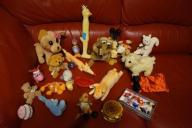 Zabawki, spinki, peleryna dla psa