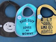 Carters zestaw śliniakow niemowlęcych 3 sztuki