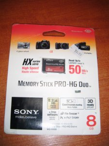 NOWA KARTA MEMORY STICK PRO-HG DUO 8GB SONY DO PS
