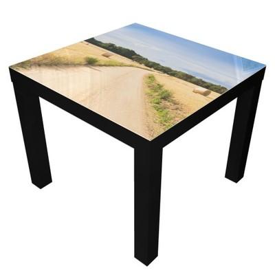 stolik IKEA LACK 55x55 czarny ława kawowa szklana