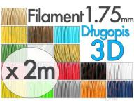 Filament 3D PLA 1.75mm wkłady 2mb do długopisu 3D