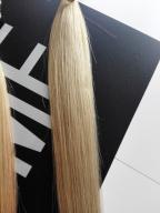 Włosy blondy ludzkie cięte z głowy 100 gram