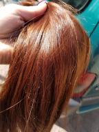 włosy dziewicze kolor rudy 45-50 cm 85 gram
