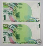 BANKNOT- Izrael 1 Szekl 1986 UNC nierozcięta parka