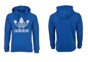 niebieska bluza adidas z kapturem