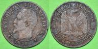 Francja 2 centimes 1856 K -M50-