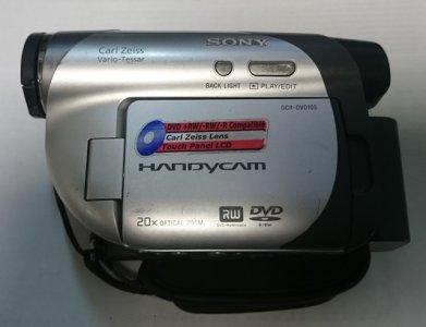 KAMERA SONY HANDYCAM DVD RW DCR DVD105E + ZASILAC