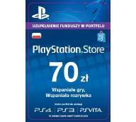 PLAYSTATION NETWORK 70 ZŁ KARTA PSN - AUTOMAT 24/7