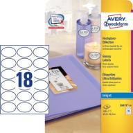 Błyszczące etykiety na produkt 63,5x42,3 mm,C6079