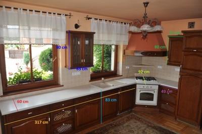 Meble Kuchenne Drewniane Fronty Kredens 6867042613