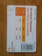 karta chipowa 192 D 1.10.2011