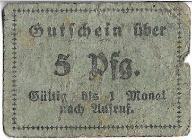 5 pfennig Reichenbach - notgeld Dzierżoniów rzadki