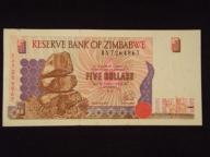 Zimbabwe 5 dolarów 1997 VF+