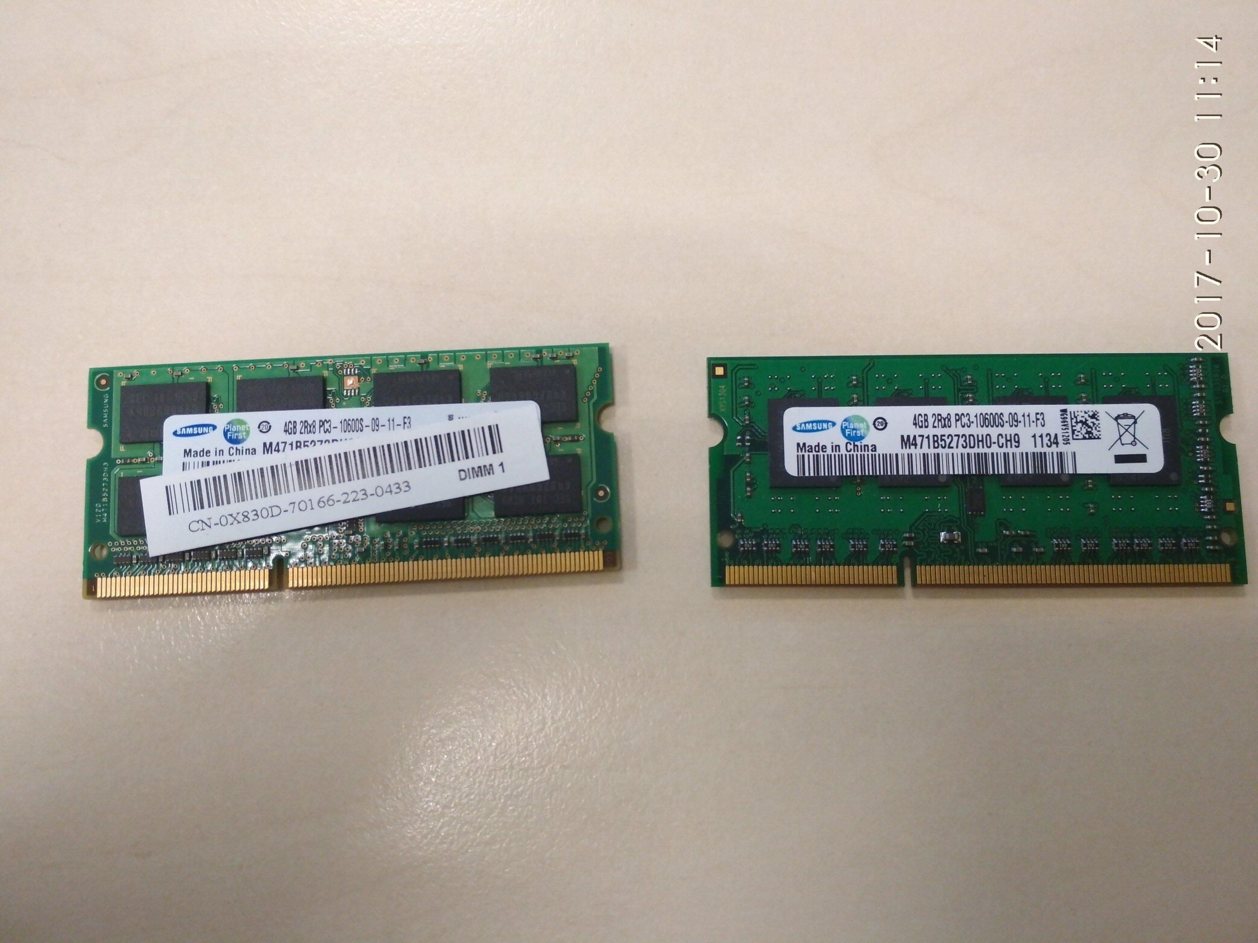 OKAZJA! Pamięć DDR3 Samsung 4GB SODIMM 1333 mhz