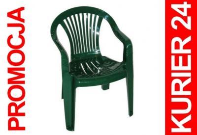 Krzesło Plastikowe Ogrodowe Fotel Zielone Szafir