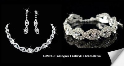 Komplet ślubnej biżuteri