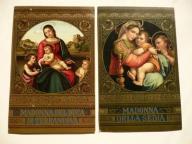 2 pocztówki sceny biblijne Madonna