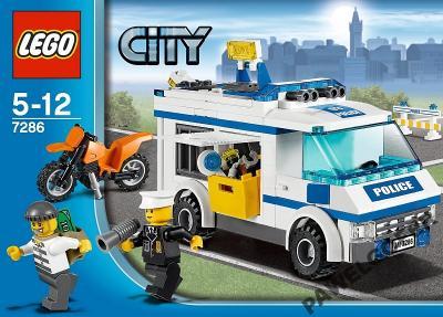 Lego City Policja 7286 Transporter Więźniów Konwój 5670305215