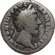 Marek Aureliusz 161-180, denar 166, Rzym