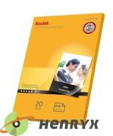 KODAK Papier Foto A4 HIGH GLOSSY 20ark 280g/m Wawa