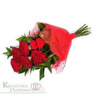 Kwiaciarnia Internetowa Bukiet Czerwona kokarda
