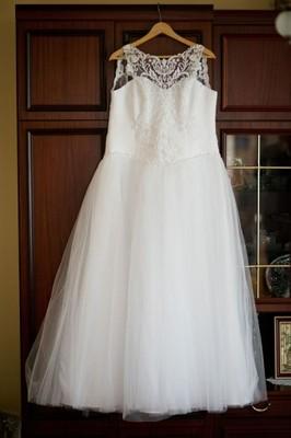 19d4d35245 Suknia ślubna ciążowa - 6900866461 - oficjalne archiwum allegro