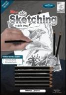 Nauka Szkicowania A5 Delfin + Zestaw Ołówków