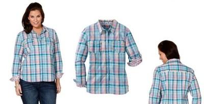 8f1938c2dfd5e4 Świetna miętowa koszula w kratke 44 / 46 - 6680617928 - oficjalne ...