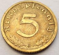 5 Reichspfennig 1936 G ! (Xh62)
