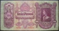 Węgry - 100 pengo - 1930 rok