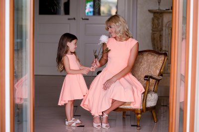 Sukienka Mama Córka Cena Za Komplet Peach Wish 6536024657