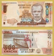 -- MALAWI 500 KWACHA 2014 AX P66 UNC ryba