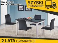 ALSTON stół rozkładany 120-180x80 biały czarny