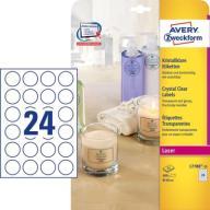 Przezroczyste etykiety Crystal Ø 40 mm L7780-25