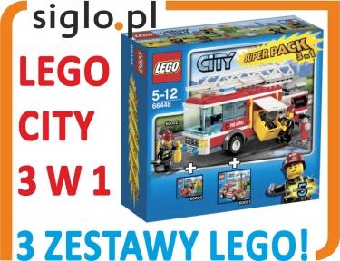 Klocki Lego City 66448 Straż Pożarna 3 Zestawy 4666375467