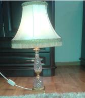 2 x Lampka kryształ mosiądz 2 sztuki