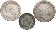 038. Prusy zestaw monet 1814, 1823, 1868 (3szt)