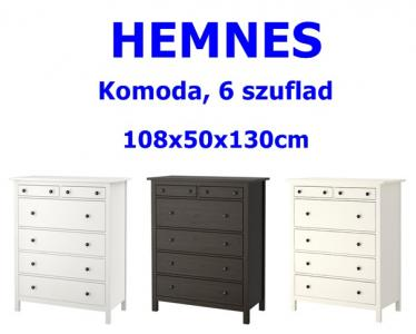 Ikea Hemnes Komoda 6 Szuflad 108x50x130 3 Kolory 5731489956