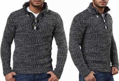 c28133aa7101 Gruby sweter męski GOLF CIPO BAXX stójka XXL - 2584749875 ...