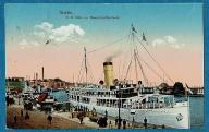 Szczecin. Port. Parowiec Odin 1919 rok