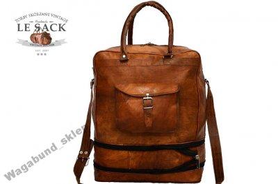 4b9b3cfea0ce PH92 Skórzana torba podróżna na ramię - plecak - 6097467692 ...