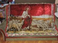 Gobelin, kilim. Jezus Chrystus Pasterz z owieczkam