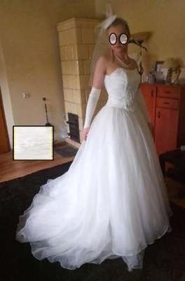 bef9a67cd4 Suknia ślubna księżniczka 34 36 38-BCM - 6909582930 - oficjalne ...