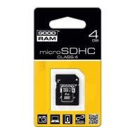 Karta pamięci microSD 4GB Goodram z adapterem
